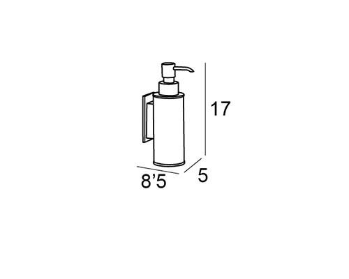 dosificador pared mtglue cromo 6877 medidas