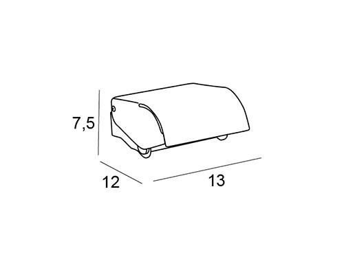 toallero portarrollos tapa cromo 1504 medidas