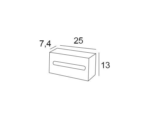 dispensador panuelos inox 2513 medidas