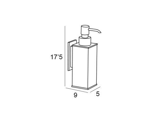 dosificador pared cromo 6777 medidas