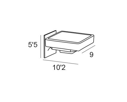 jabonera pared cromo 6406 medias