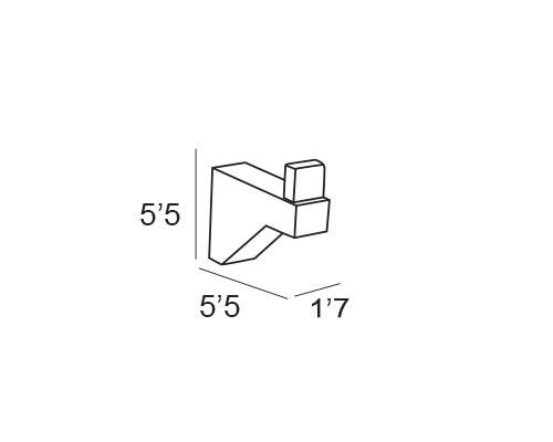percha cromo 5408 medidas