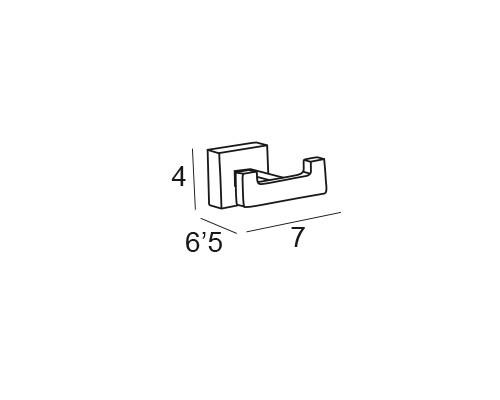 percha cromo 6208 medidas