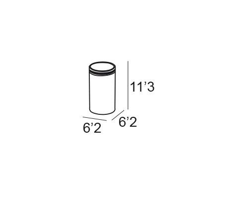 portacepillos sobremesa cromo 6675 medidas