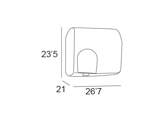 secador manos celula fotoelectrica cromo 6242 medidas