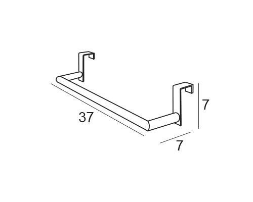 toallero barra colgante 6343 medidas