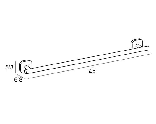 toallero barra cromo 1518 medidas