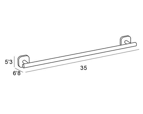 toallero barra cromo 1531 medidas