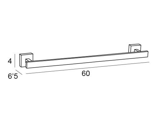 toallero barra cromo 6201 medidas