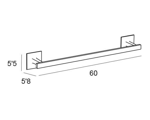 toallero barra cromo 6401 medidas
