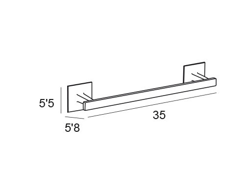 toallero barra cromo 6431 medidas