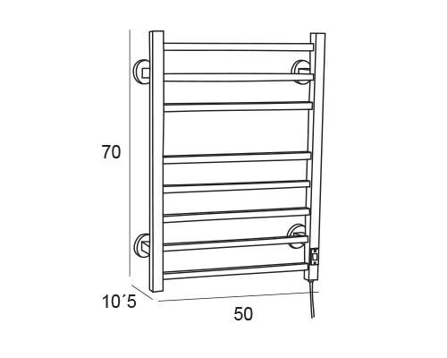 toallero electrico inox 6884 medidas
