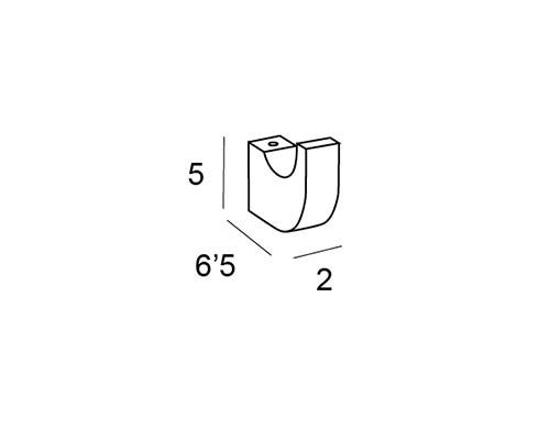 percha cromo 6708 medidas