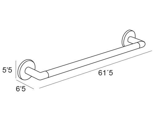 toallero barra cromo 1401 medidas