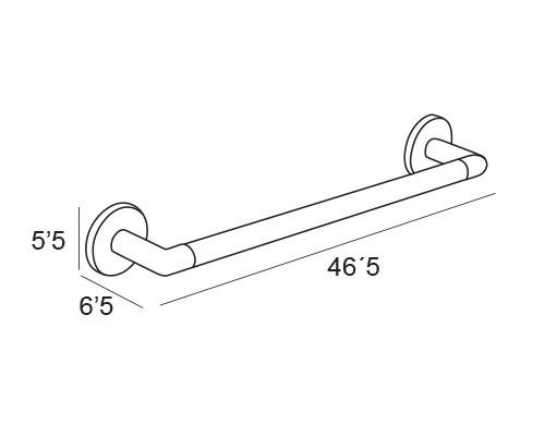toallero barra cromo 1418 medidas