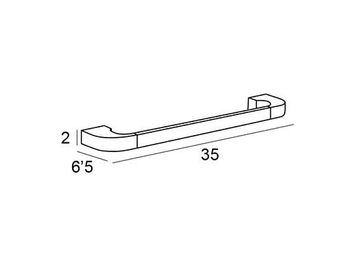 toallero barra cromo 6731 medidas