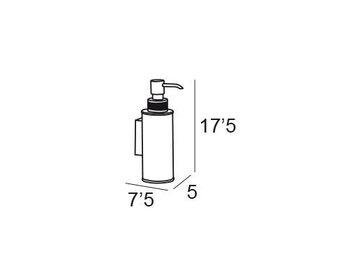 dosificador pared cromo 6647 medidas