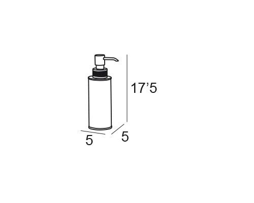 dosificador sobremesa cromo 6671 medidas