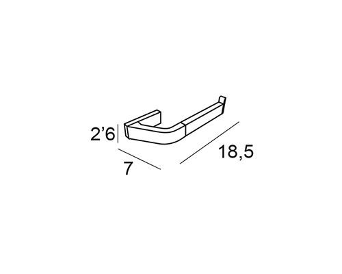 luxor toallero bidet portarollos sin tapa 2112