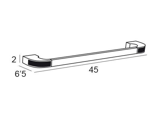 toallero barra cromo 6618 medidas