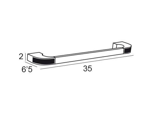 toallero barra cromo 6631 medidas
