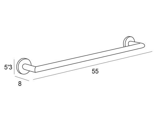 toallero barra inox 6501 medidas