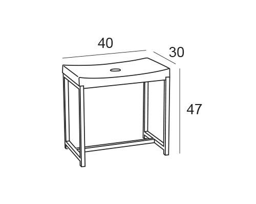 asiento ducha 1641 medidas