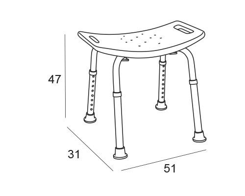 asiento ducha 1940 medidas