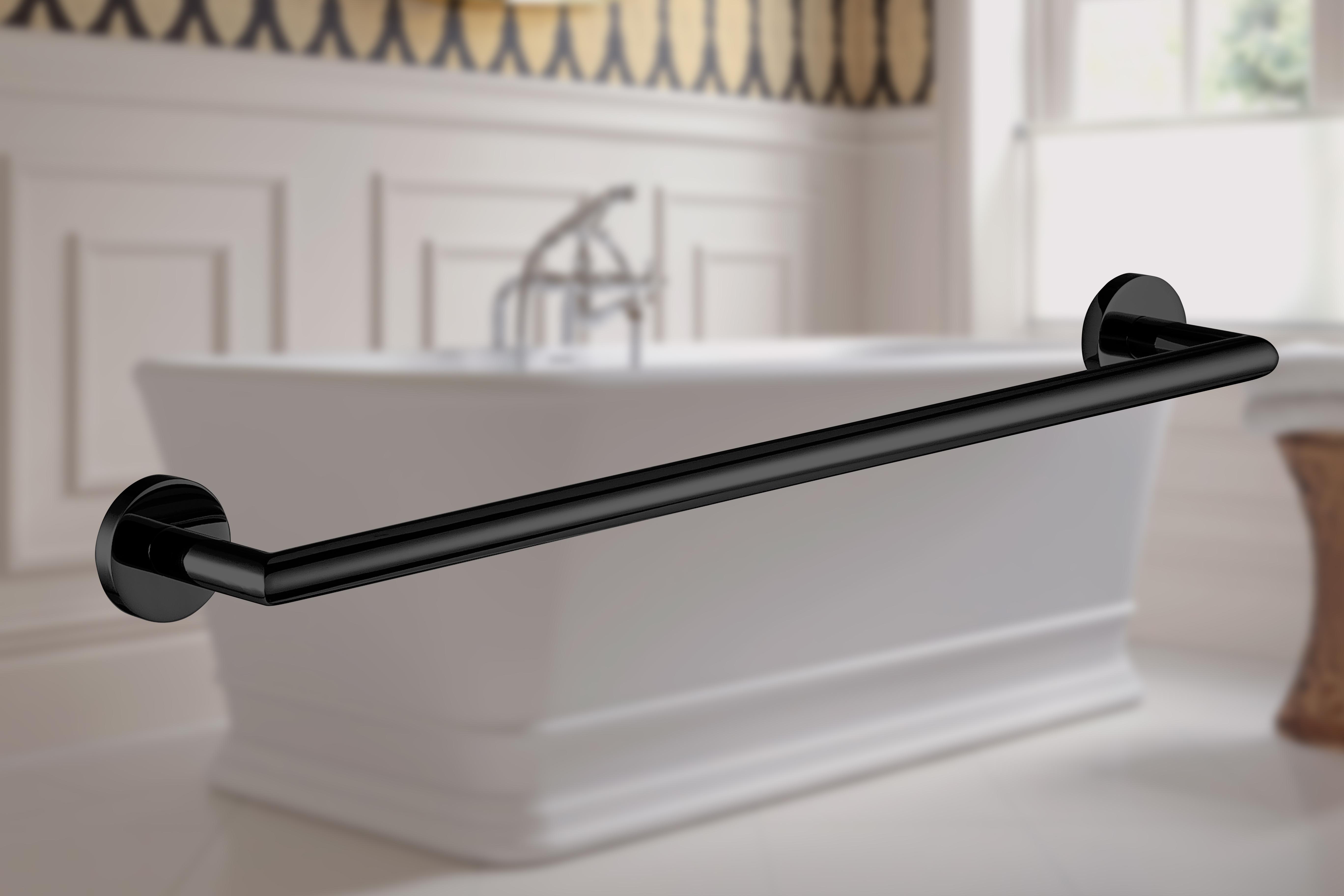 accesorio de baño en negro mate