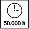 Más de 50000 horas de uso