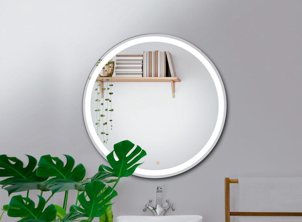 Espejo LED redondo con antivaho